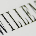 Schriftbild Stahlstich