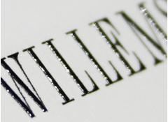 Stahlstichprägedruck Druckplattform